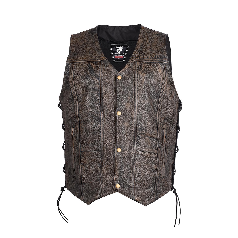 Distressed bikers vest