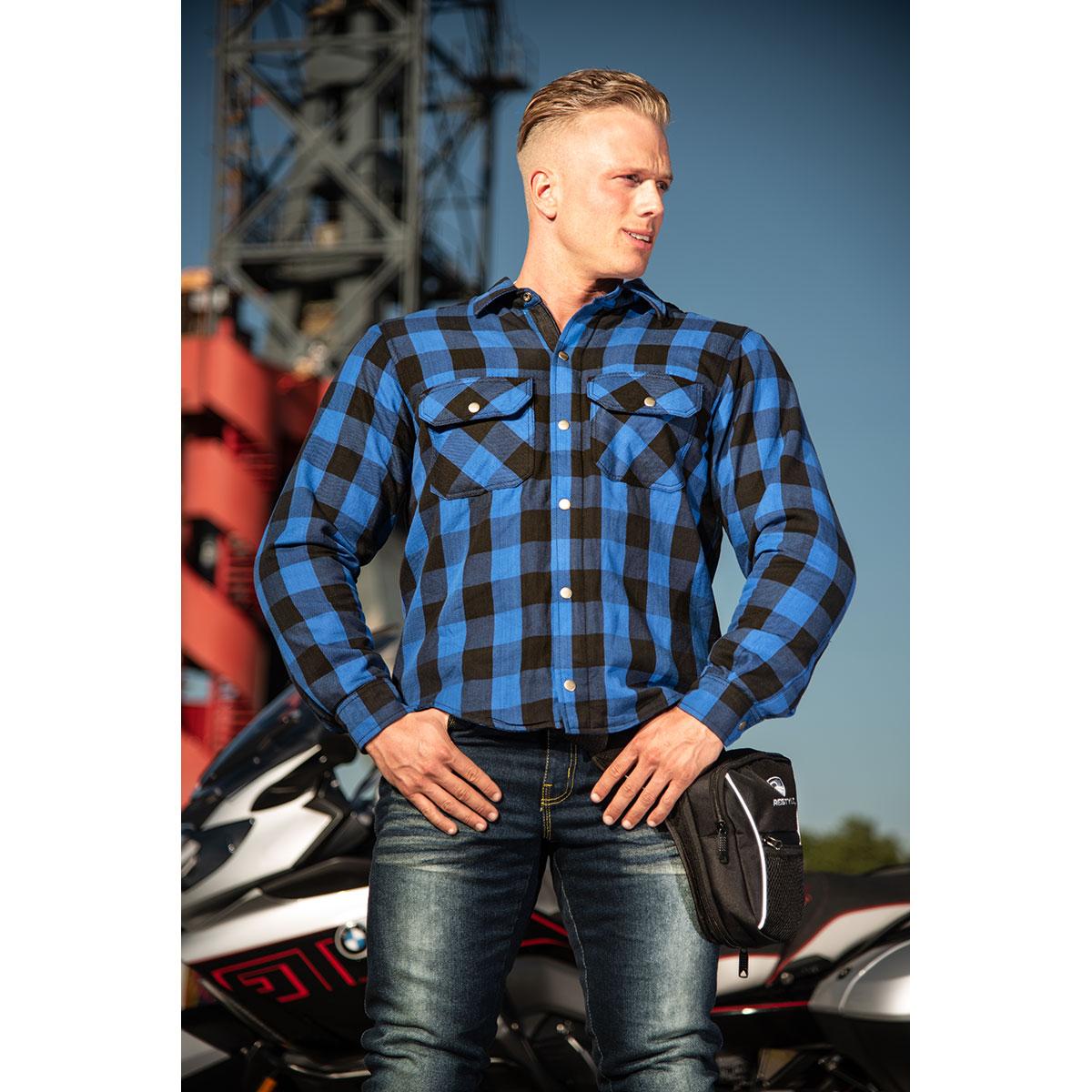 Marcus Lumber blauw-zwart CE-Level II