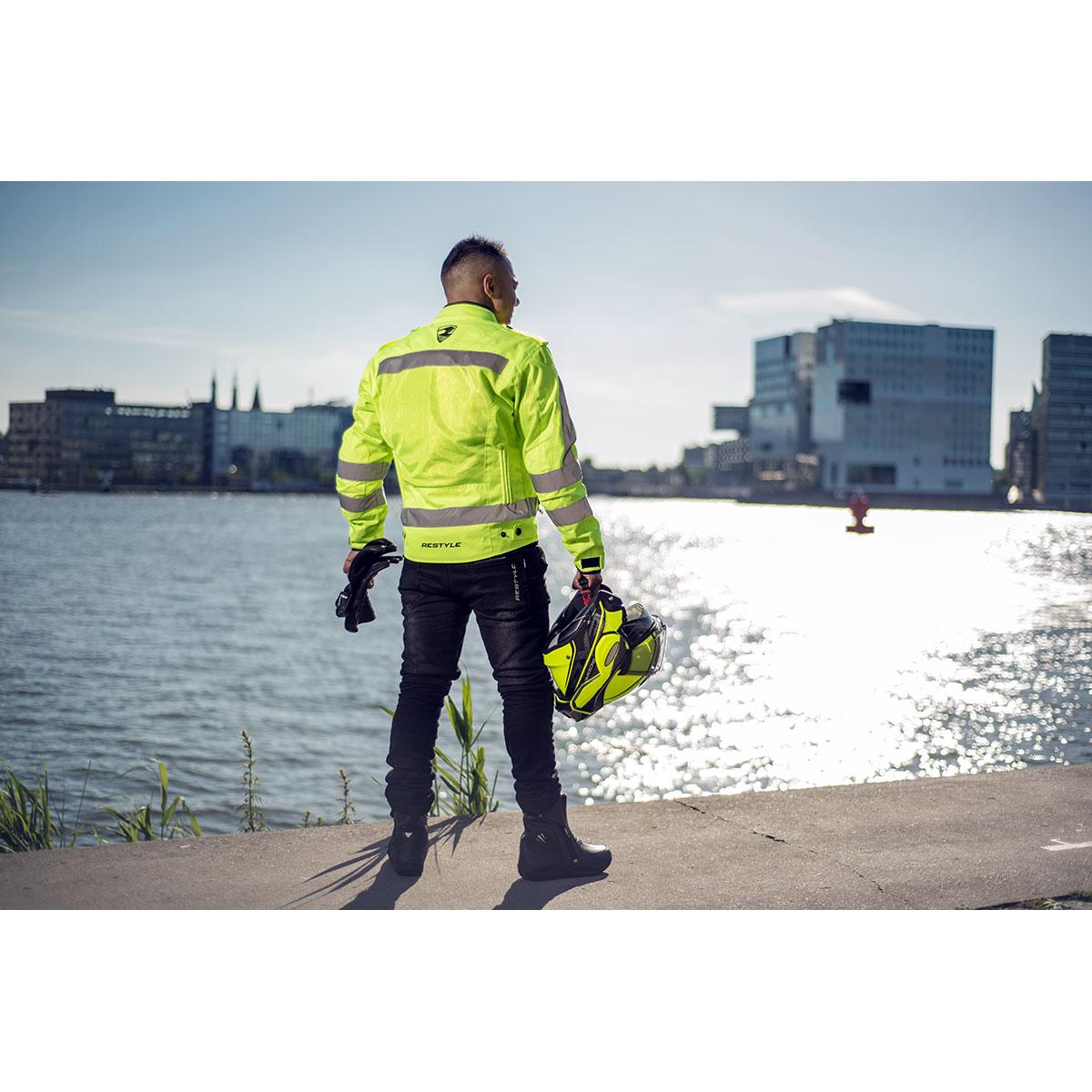 Summer Safety fluo jas i.c.m. Aviator Kevlar II broek incl CE-Level II protectie